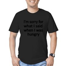 Im Sorry For What I Sa Men's Fitted T-Shirt (Dark)
