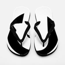 White INDIE PIGEON Insignia Flip Flops