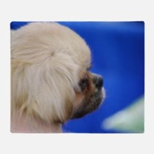 Tibetan Spaniel Puppy Throw Blanket