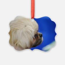 Tibetan Spaniel Puppy Ornament