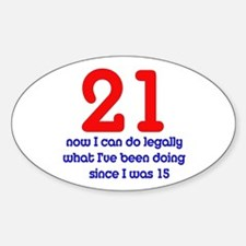 21st Birthday Oval Decal