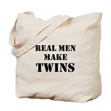 Real Men Make Twins Tote Bag