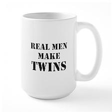 Real Men Make Twins Ceramic Mugs