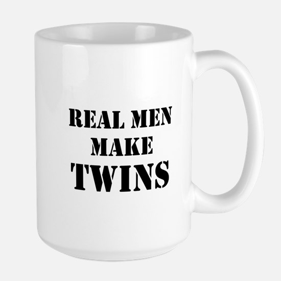Real Men Make Twins Large Mug