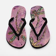 Dragonflies Pink Fizz Flip Flops