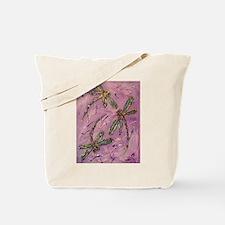 Dragonflies Pink Fizz Tote Bag