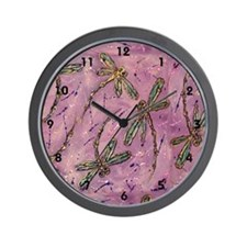 Dragonflies Pink Fizz Wall Clock
