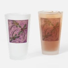 Dragonflies Pink Fizz Drinking Glass