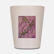 Dragonflies Pink Fizz Shot Glass