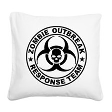 Zombie Outbreak Response Team Square Canvas Pillow