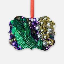 Mardi Gras Alligator Beads Ornament