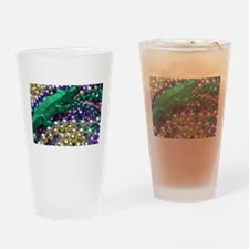 Mardi Gras Alligator Beads Drinking Glass
