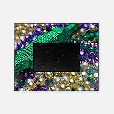Mardi Gras Alligator Beads Picture Frame