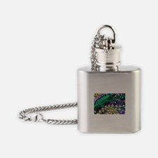 Mardi Gras Alligator Beads Flask Necklace