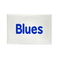 Blues word blue music design Magnets