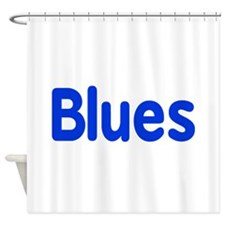 Blues word blue music design Shower Curtain