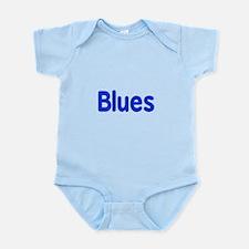 Blues word blue music design Body Suit