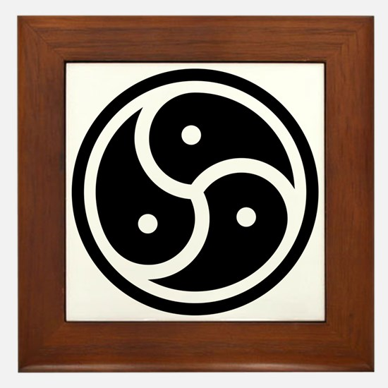 BDSM Triskelion Framed Tile