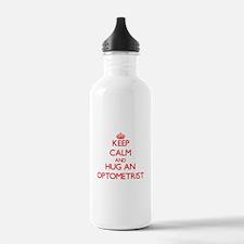 Keep Calm and Hug an Optometrist Water Bottle