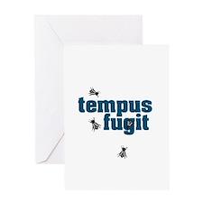 Tempus Fugit Greeting Cards