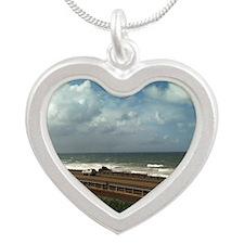 California Winter Silver Heart Necklace