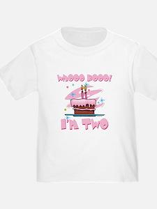 Whooo Hooo I'm Two Pink T