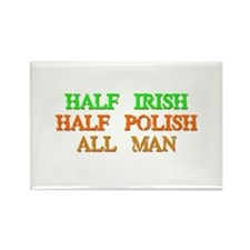 Half Irish, Half Polish Rectangle Magnet