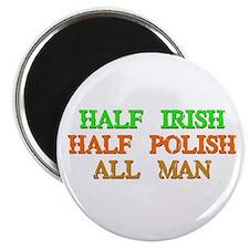 half Irish, half Polish Magnets