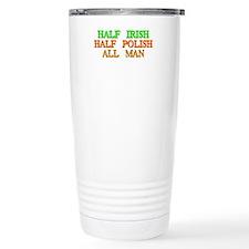 half Irish, half Polish Travel Mug