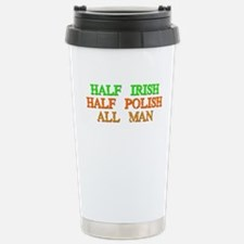 half Irish, half Polish Travel Mug