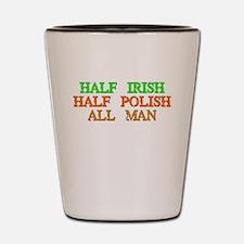 half Irish, half Polish Shot Glass