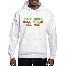 half Irish, half Polish Hoodie
