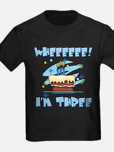 Wheee I'm Three Blue T