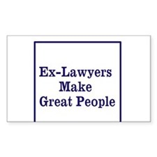 Ex-Lawyers Bumper Stickers