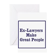 Ex-Lawyers Greeting Cards