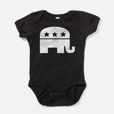 Republican Elephant White Baby Bodysuit