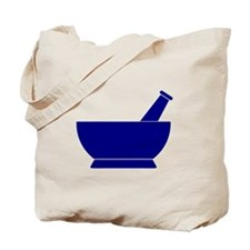 Blue Mortar and Pestle Tote Bag