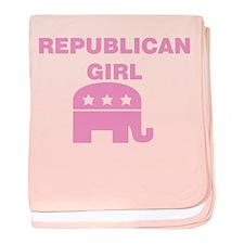 Republican Girl (Pink) baby blanket
