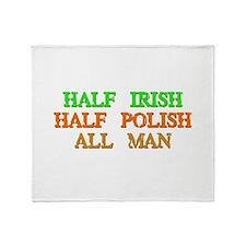half Irish, half Polish Throw Blanket
