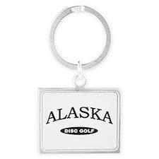 Alaska Disc Golf Landscape Keychain