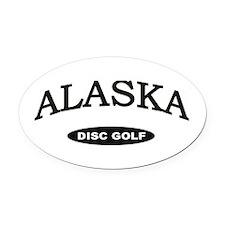 Alaska Disc Golf Oval Car Magnet