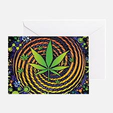 Weed Vortex Greeting Card