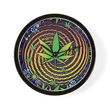 Weed Vortex Wall Clock