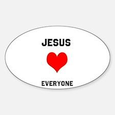 Jesus Loves Everyone Decal