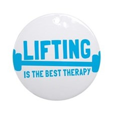 Lifting is the best therapy Ornament (Round)