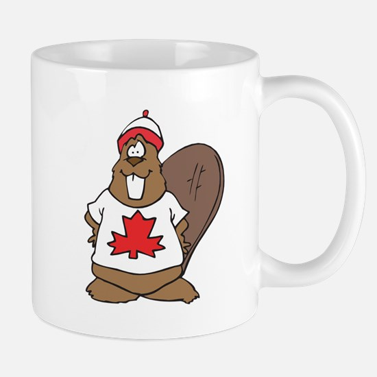 Goofy Canadian Beaver in Shirt Mug
