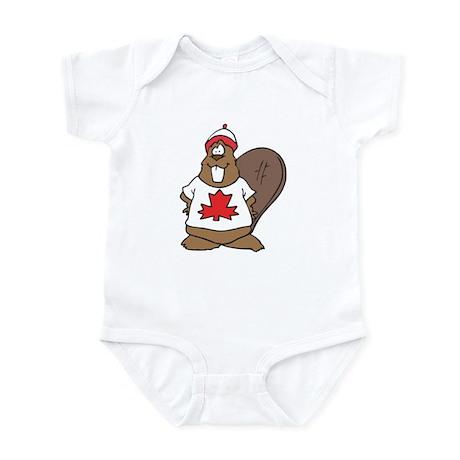 Goofy Canadian Beaver in Shirt Infant Bodysuit