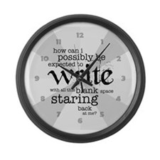 How Can I Write? Large Wall Clock
