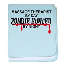 Zombie Hunter - Massage Therapist baby blanket