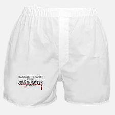 Zombie Hunter - Massage Therapist Boxer Shorts
